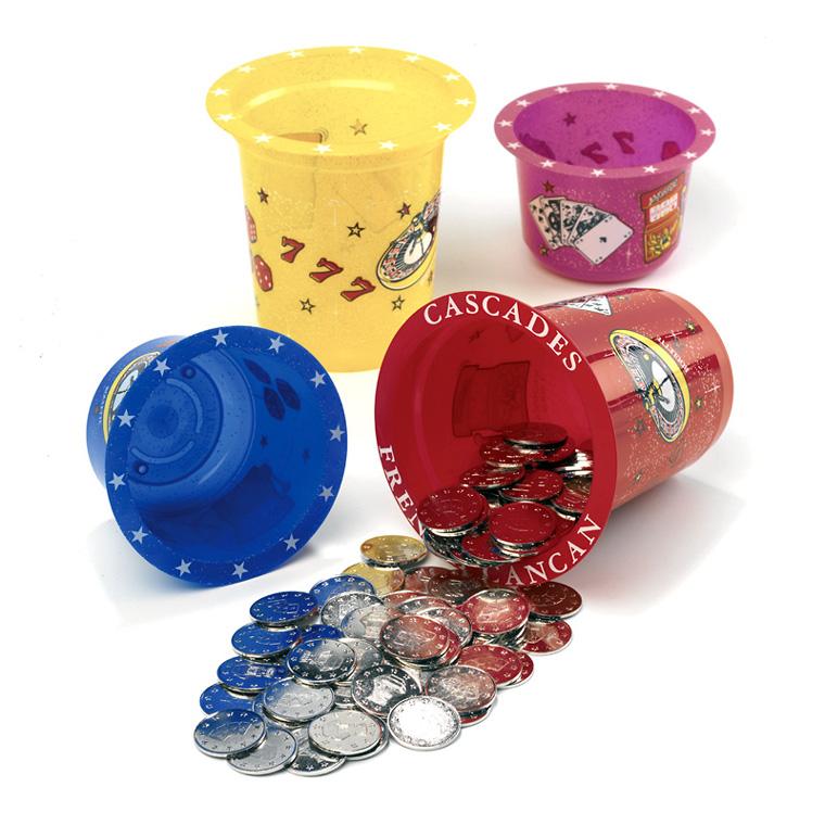 jt fabricant gobelets fabricant de jetons et accessoires pour jeux cascades. Black Bedroom Furniture Sets. Home Design Ideas